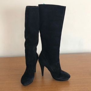 BCBGeneration high heeled black boots size 10B/40